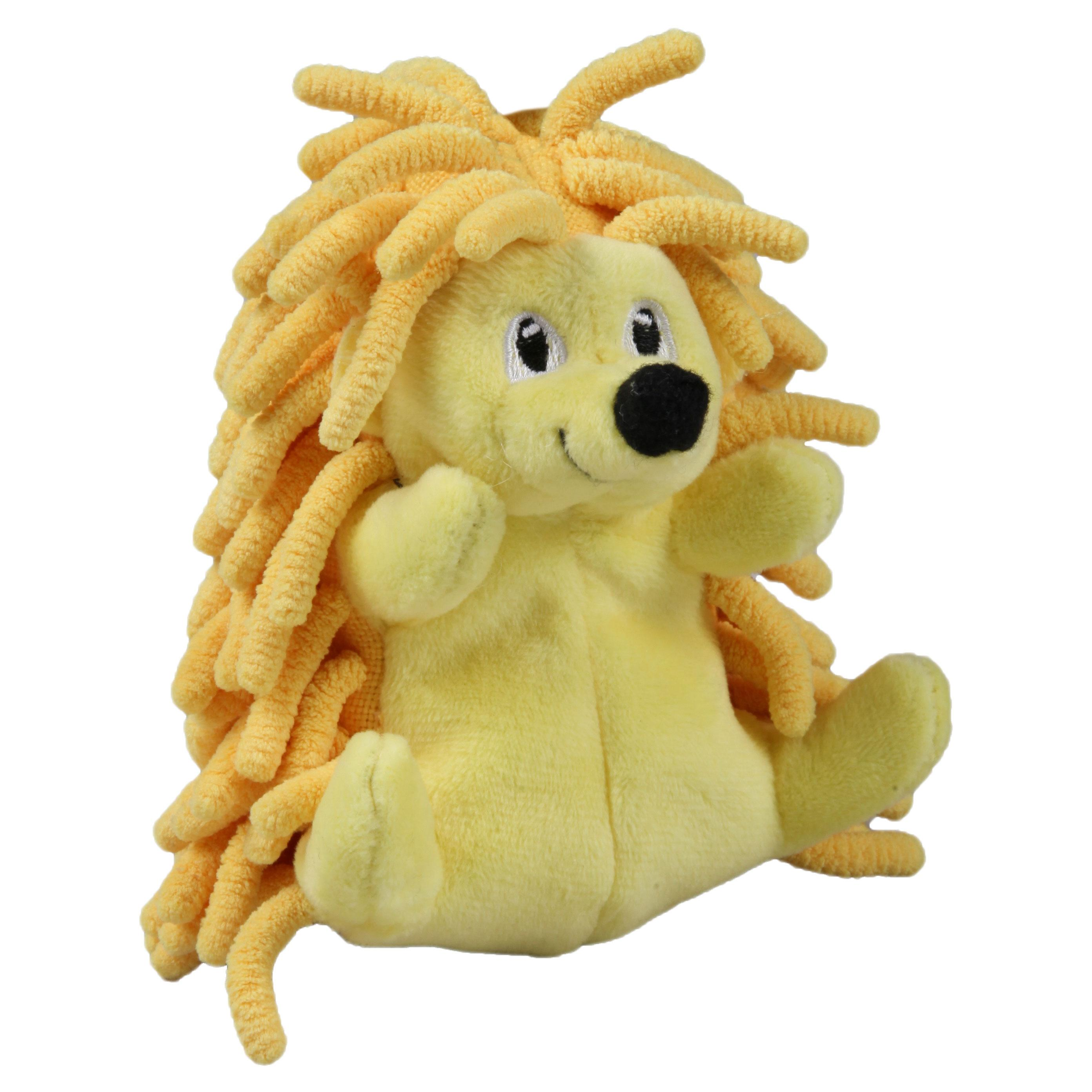 Smart Pet Love Tender-Tuffs Tiny Hedgehog Dog Toy, Yellow