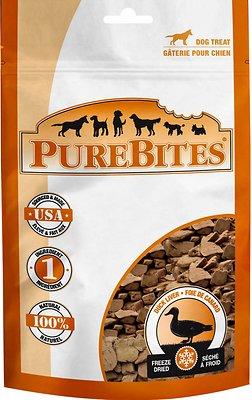 PureBites Duck Liver Freeze-Dried Dog Treats, 2.6-oz bag