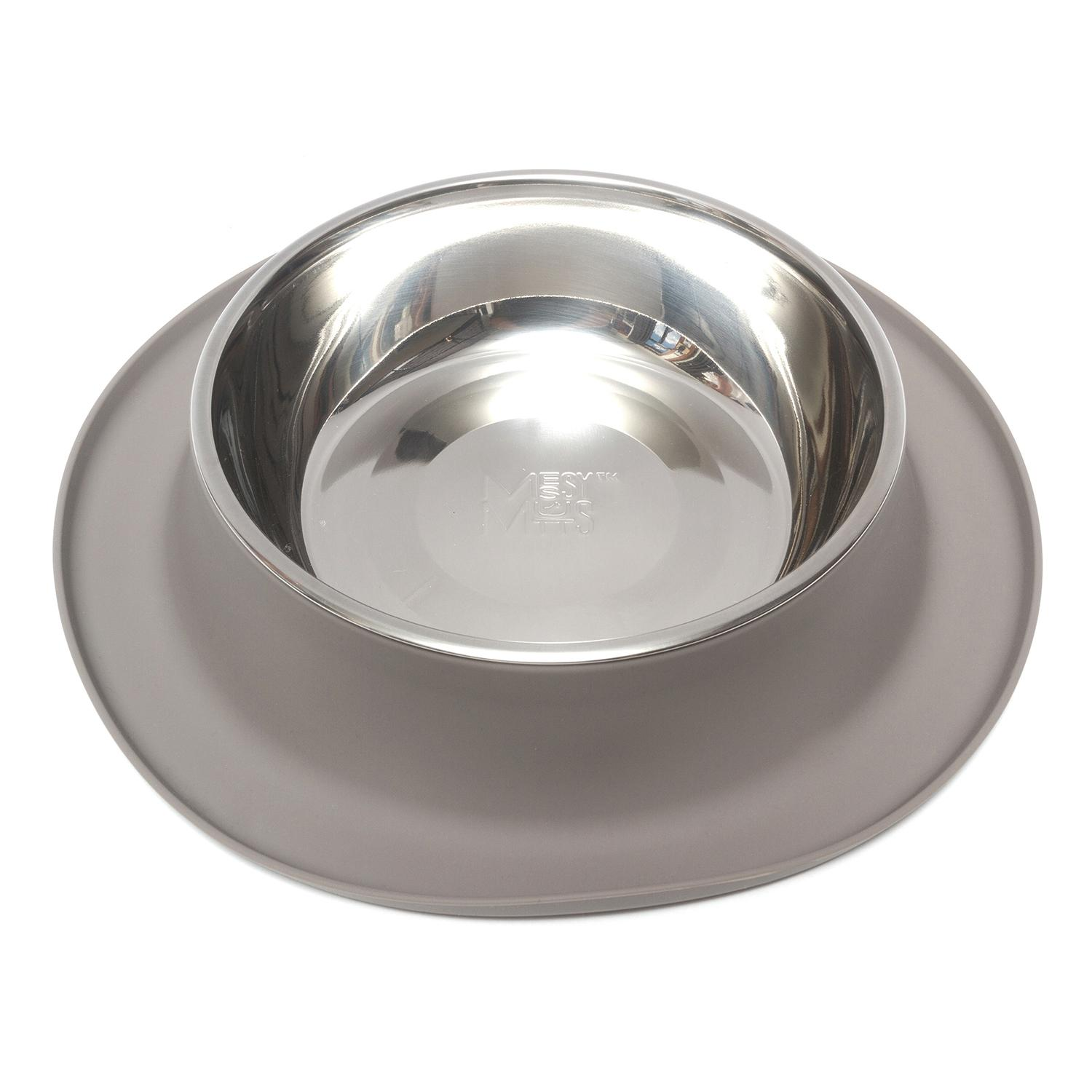 Messy Mutts Silicone Cat Feeder, Grey, X-Large