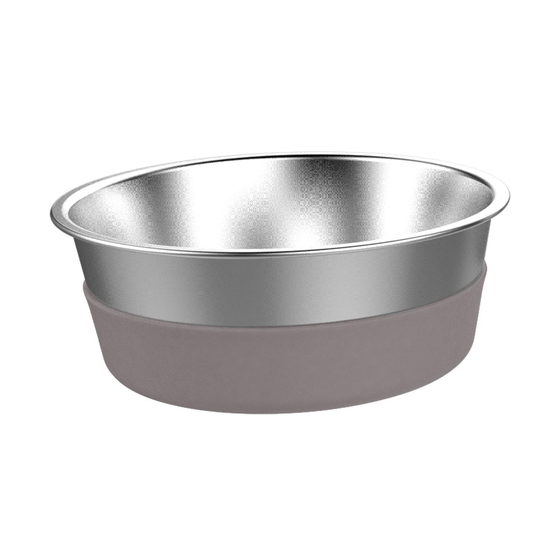 Messy Mutts Stainless Steel Heavy Gauge Non-Slip Dog Bowl, Medium