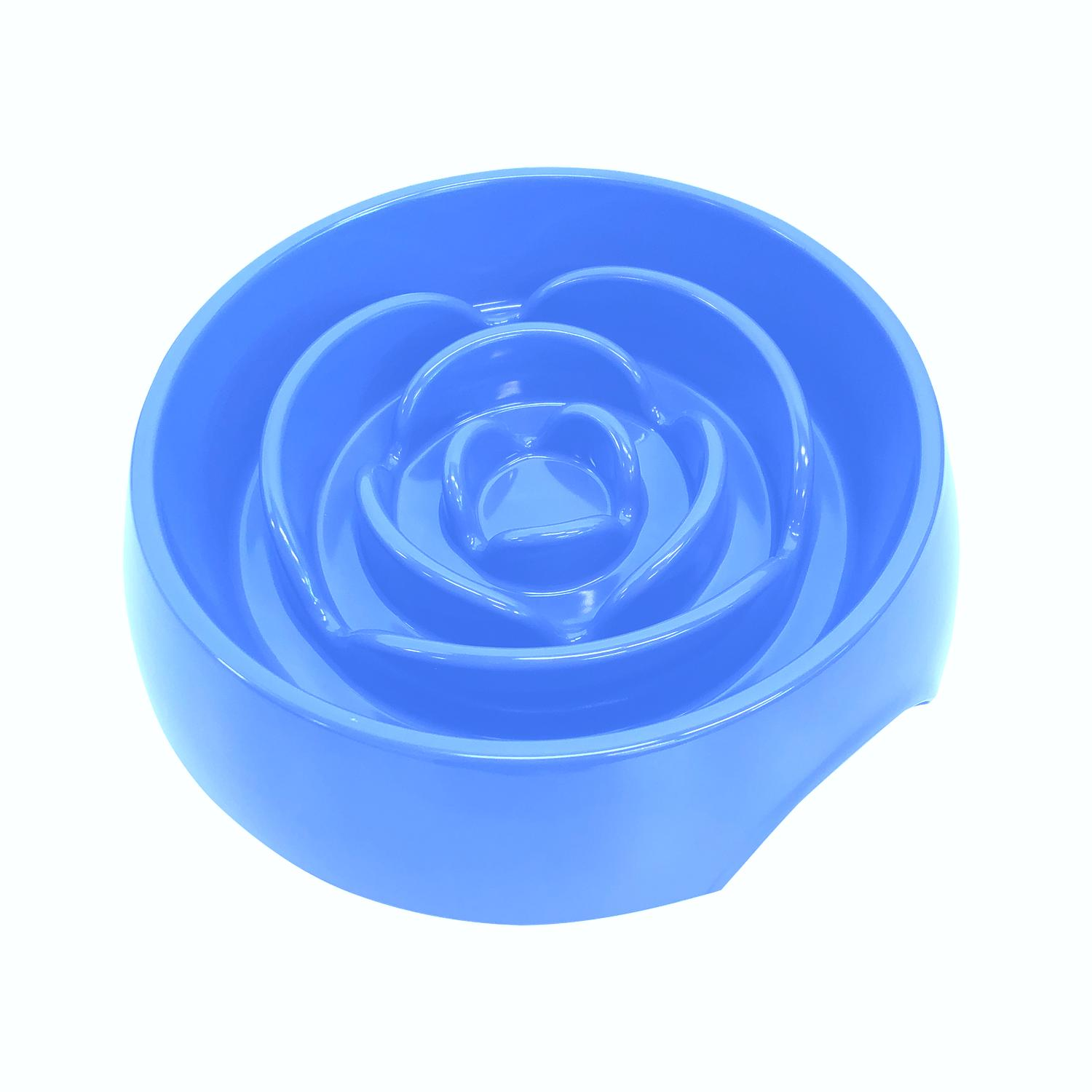 Messy Mutts Interactive Slow Feeder for Dogs, Blue