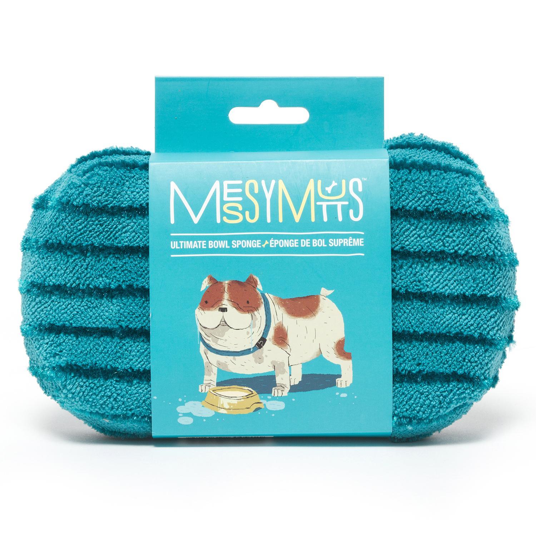 Messy Mutts Microfiber Ultimate Dog Bowl Sponge , Blue
