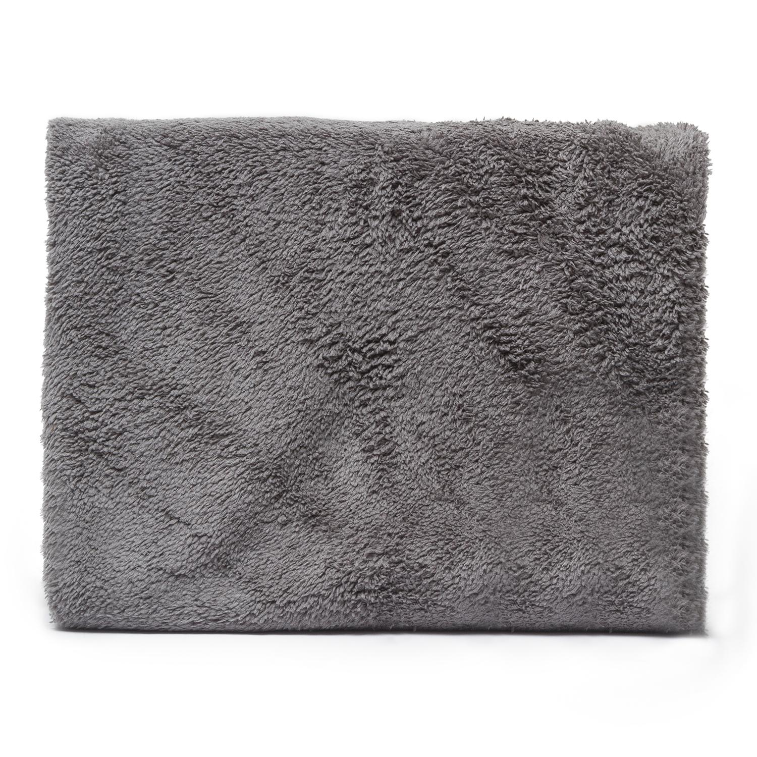 Messy Mutts Microfiber Ultra Soft Towel with Hand Pockets, Cool Grey, Medium