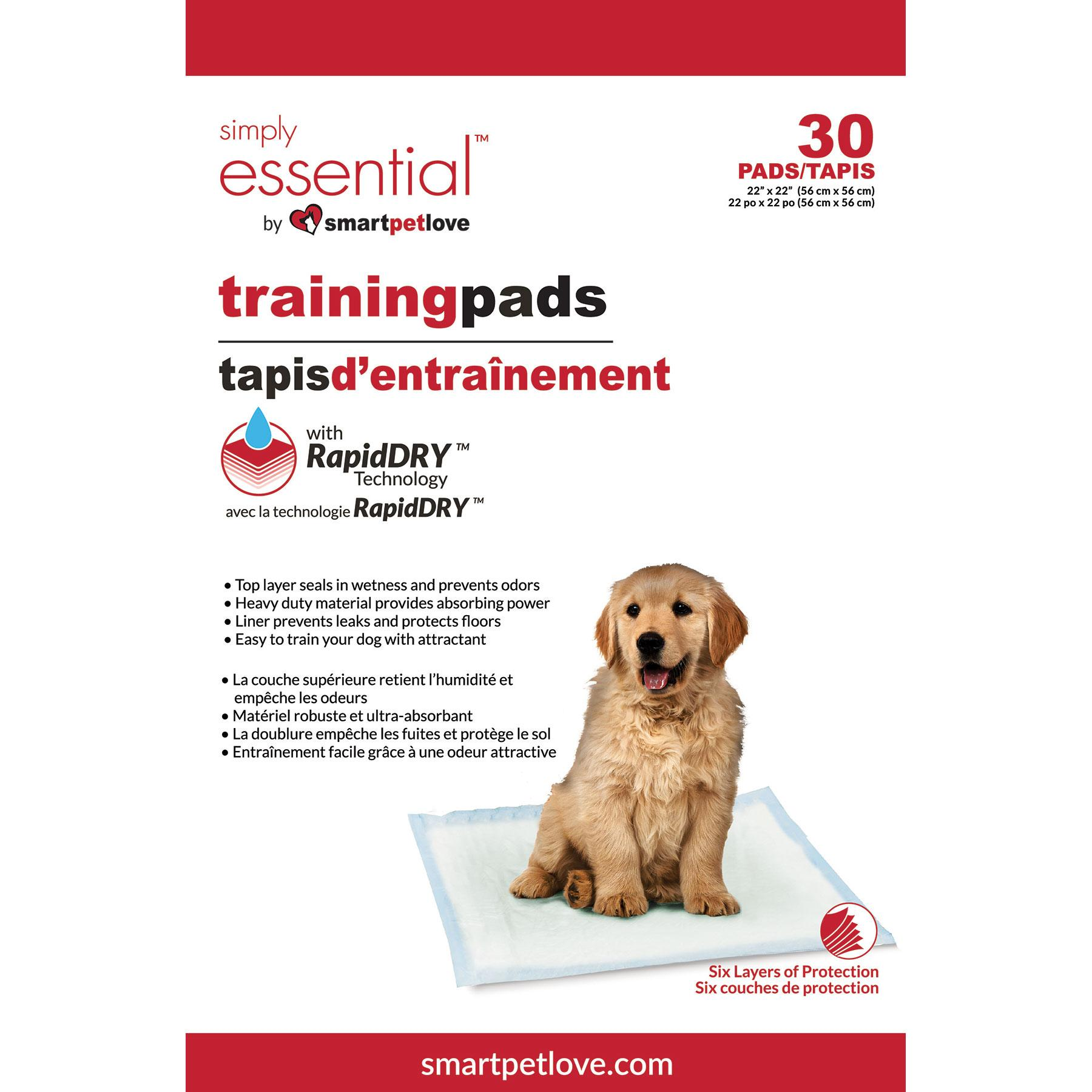 Smart Pet Love Simply Essential Training Dog Pad, 30-count