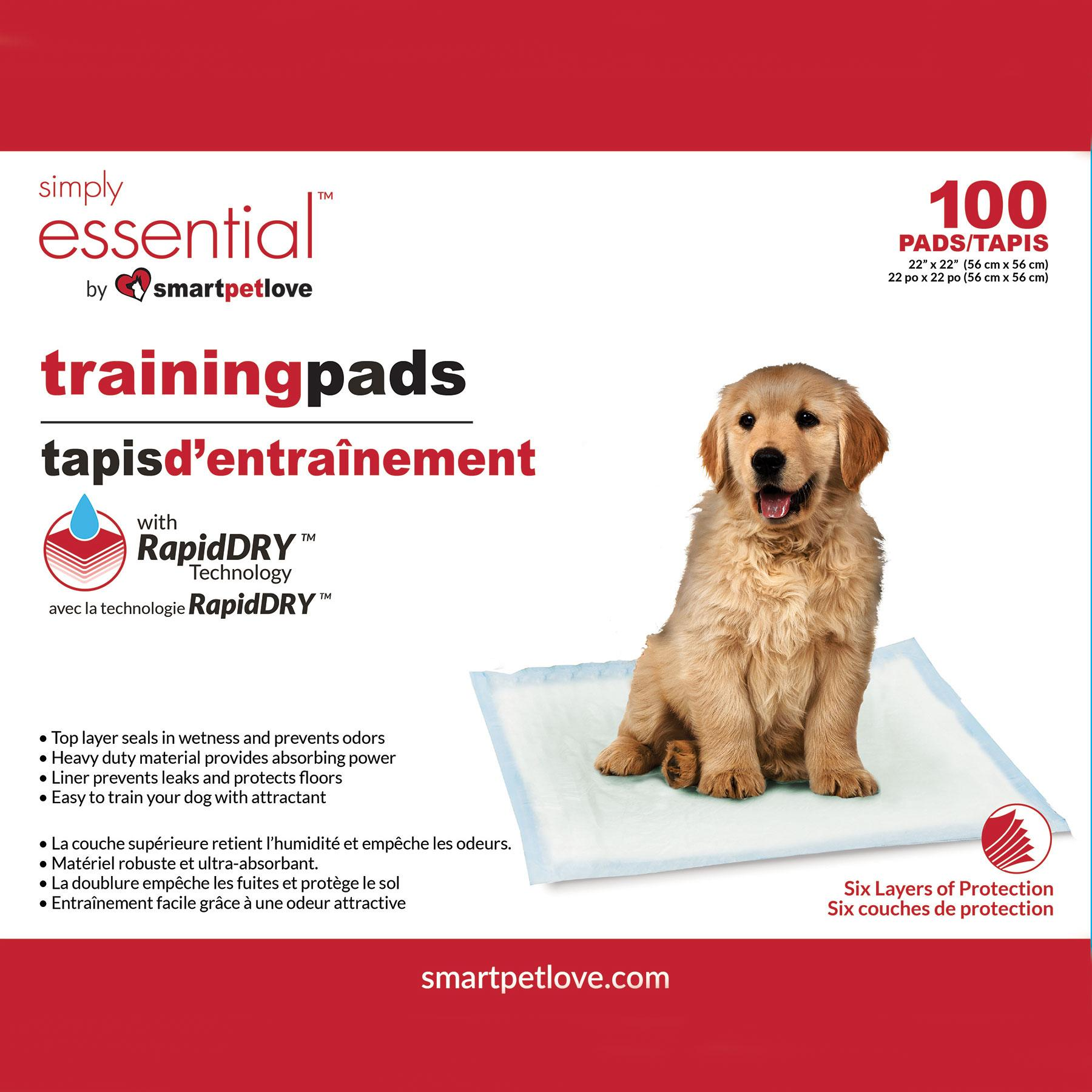 Smart Pet Love Simply Essential Training Dog Pad, 100-count