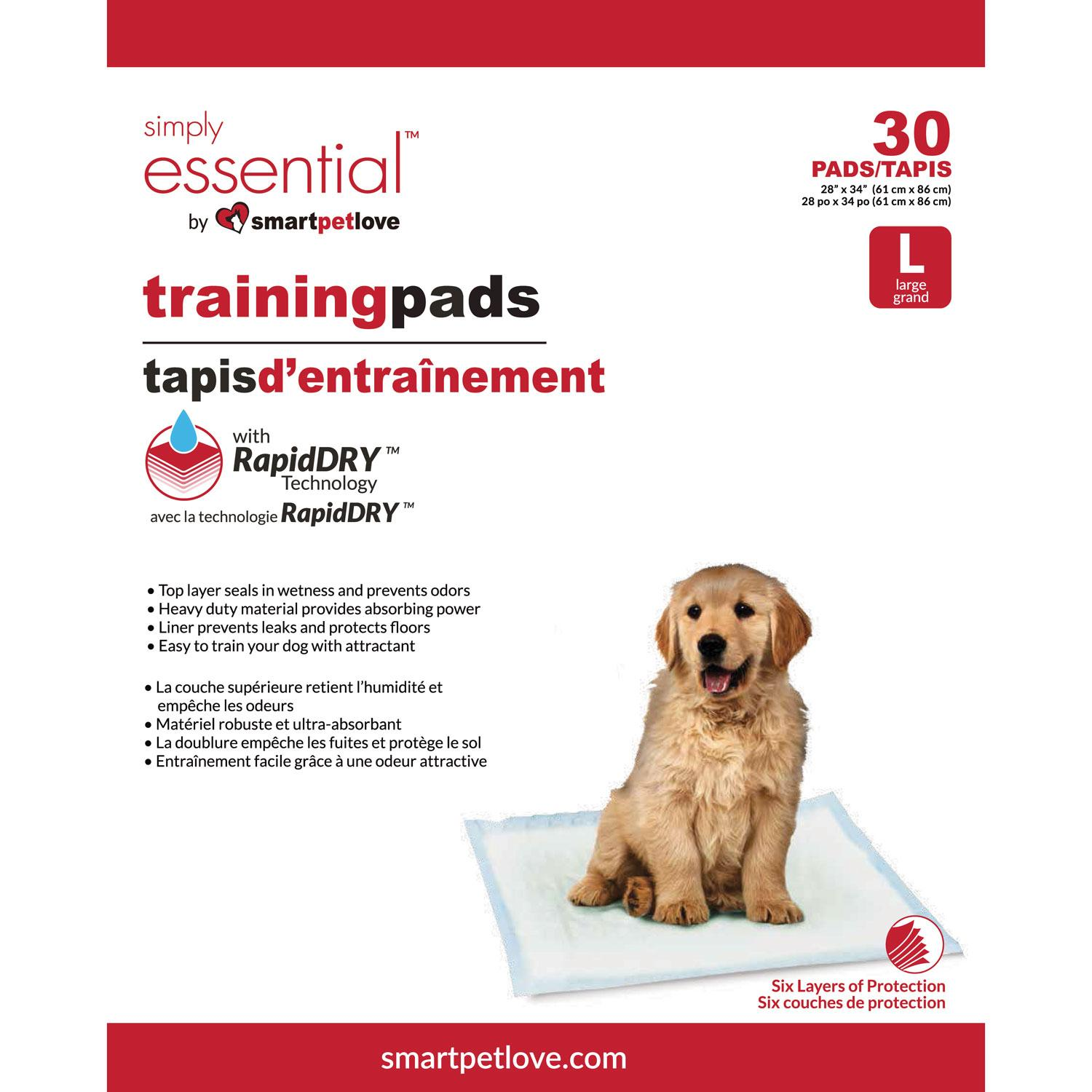 Smart Pet Love Simply Essential Large Training Dog Pad, 30-count