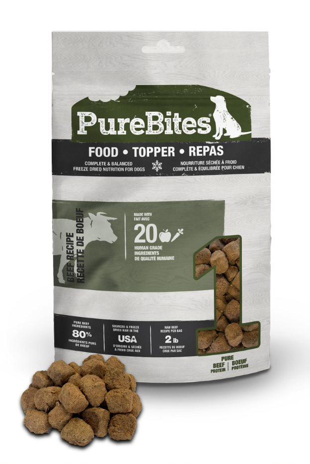 PureBites Beef Recipe Dog Food Topper, 3-oz