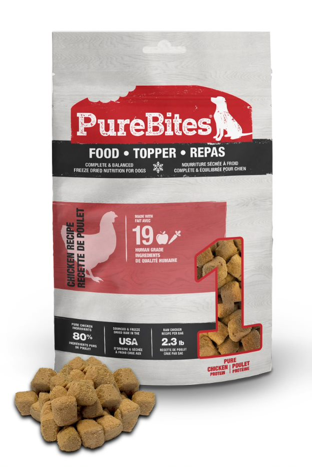PureBites Chicken Recipe Dog Food Topper, 3-oz