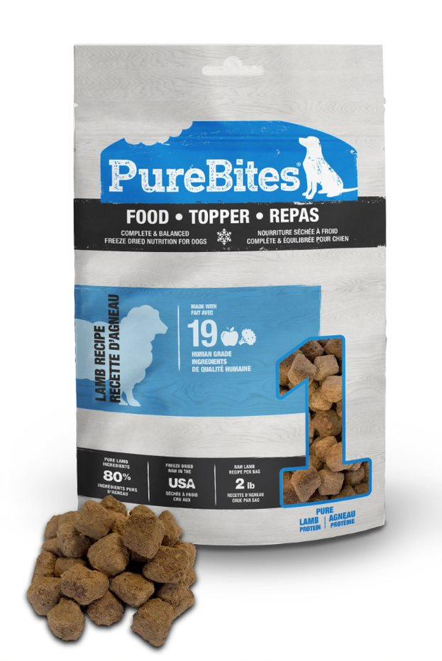 PureBites Lamb Recipe Dog Food Topper, 2.9-oz