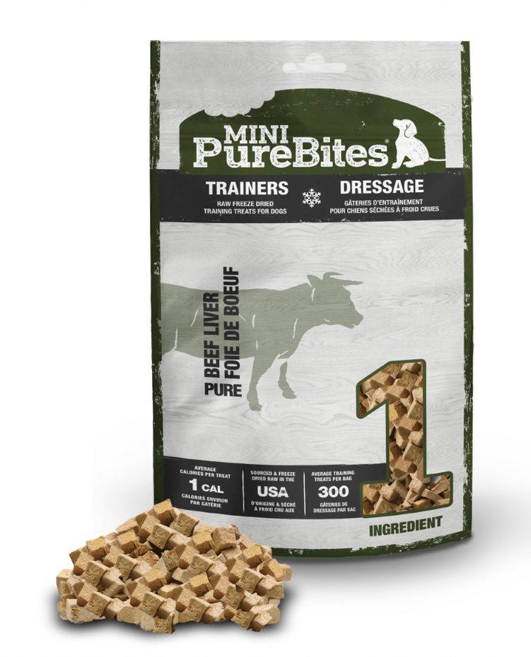Mini PureBites Trainers Beef Liver Dog Treats, 3-oz