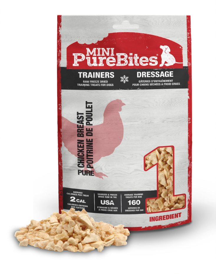 Mini PureBites Trainers Chicken Breast Dog Treats, 2.1-oz