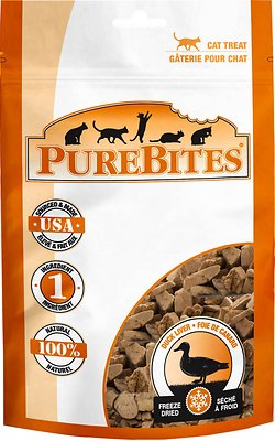 PureBites Duck Freeze-Dried Cat Treats, 1.05-oz bag
