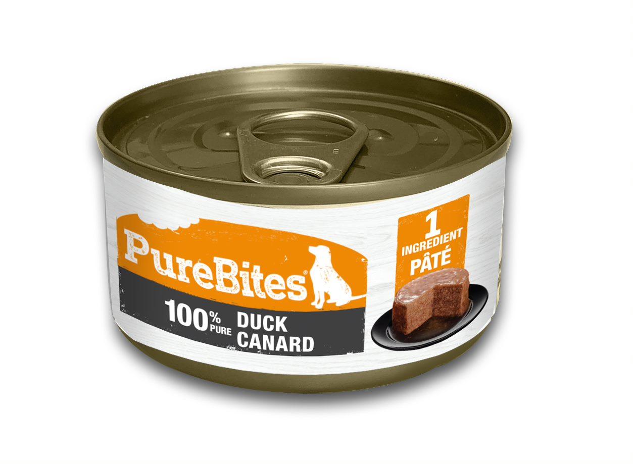 PureBites Patés 100% Pure Duck Dog Treat, 2.5-oz