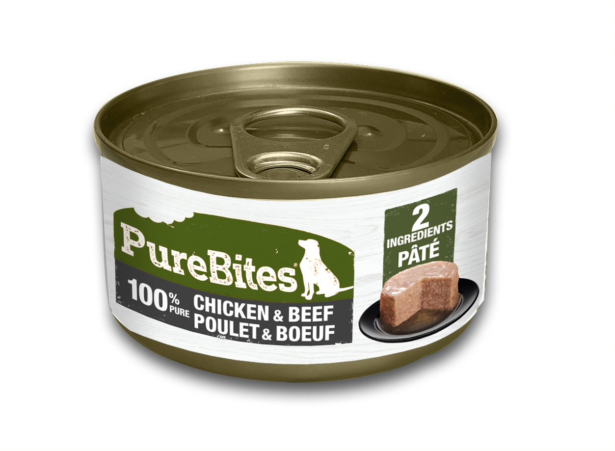 PureBites Patés 100% Pure Chicken & Beef Dog Treat, 2.5-oz
