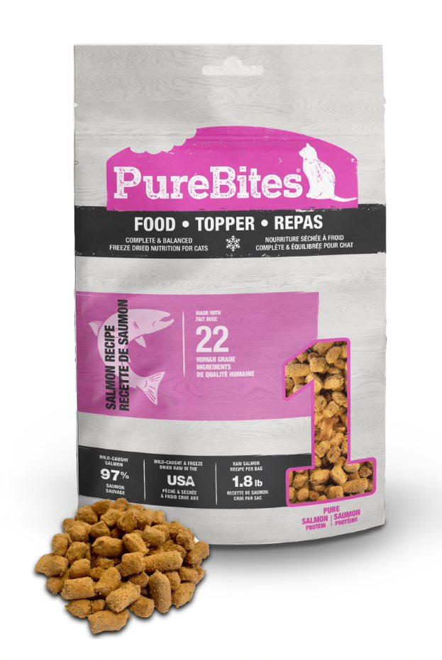 PureBites Salmon Recipe Cat Food Topper, 2.4-oz