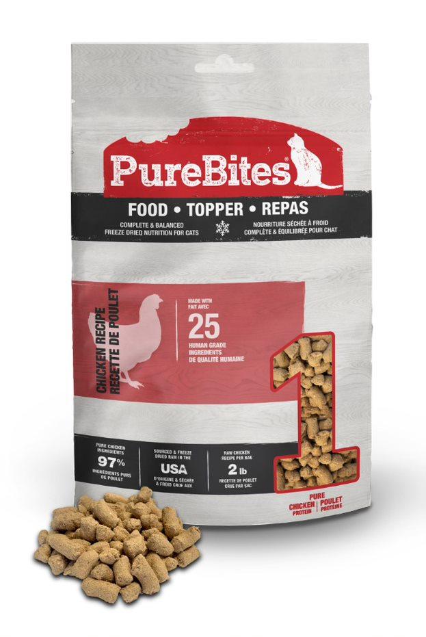 PureBites Chicken Recipe Cat Food Topper, 2.8-oz
