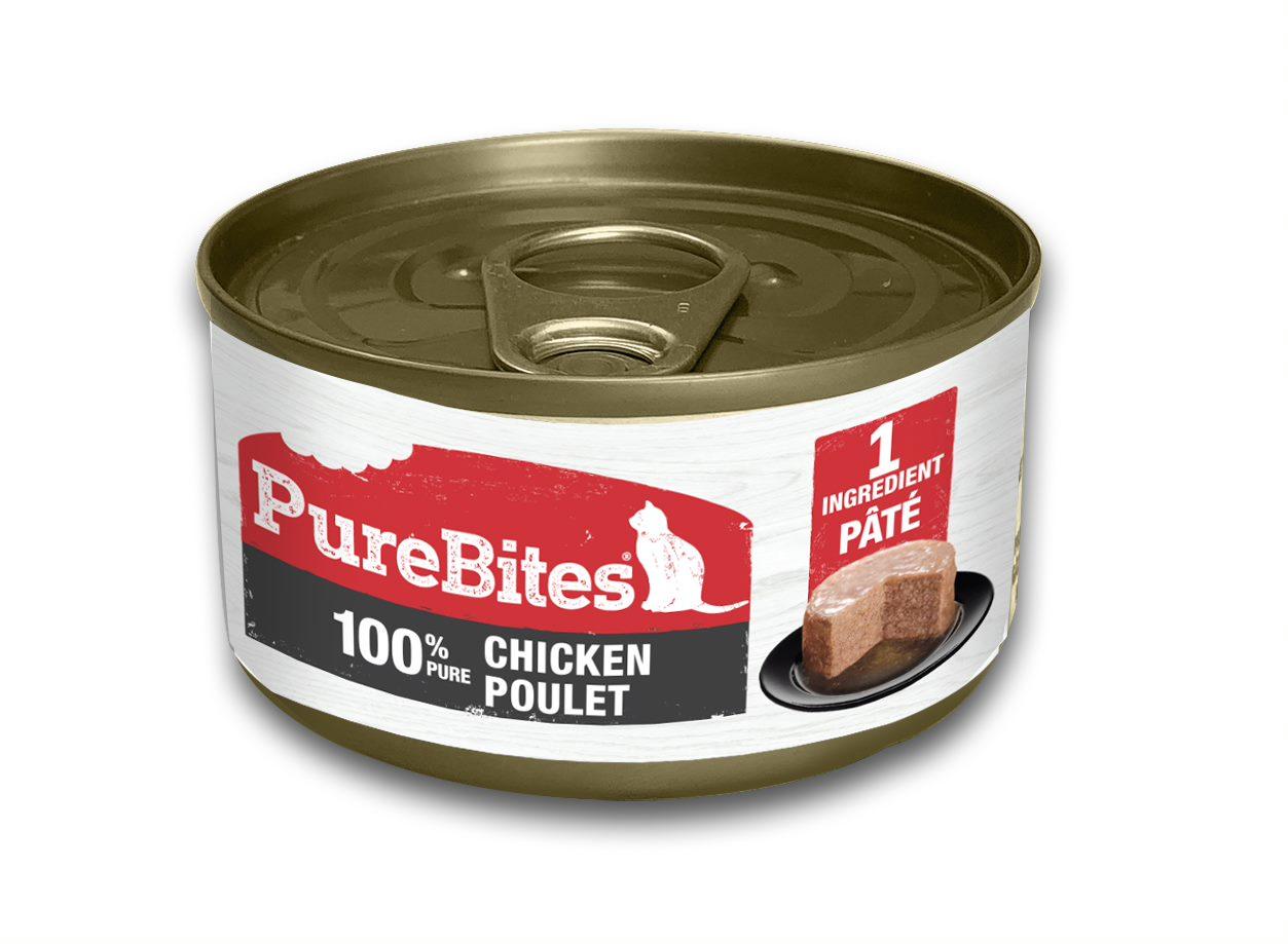 PureBites Patés 100% Pure Chicken Cat Treats, 2.5-oz