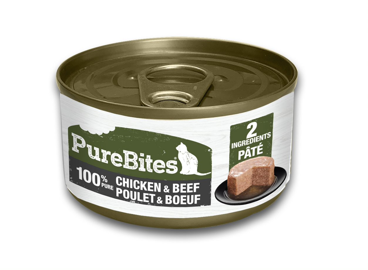 PureBites Patés 100% Pure Chicken & Beef Cat Treats, 2.5-oz