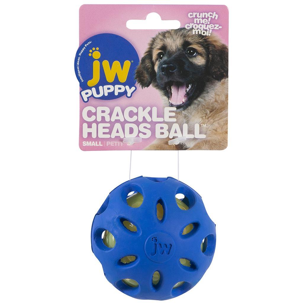 JW Pet Puppy Crackle Heads Ball Dog Toy
