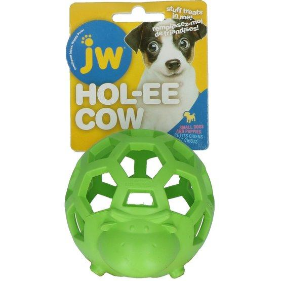 JW Pet Hol-ee Cow Dog Toy, Small