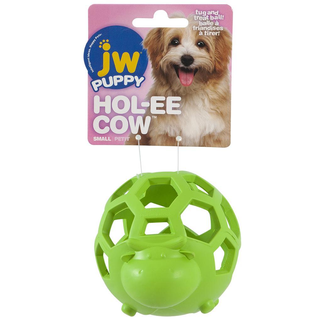 JW Pet Puppy Hol-ee Cow Dog Toy