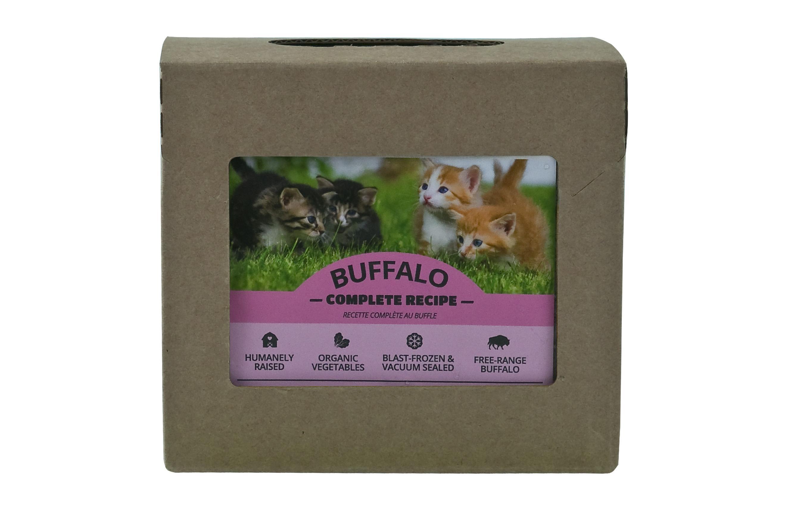 Red Dog Blue Kat Buffalo Complete Recipe Frozen Cat Food, 1/4-lb