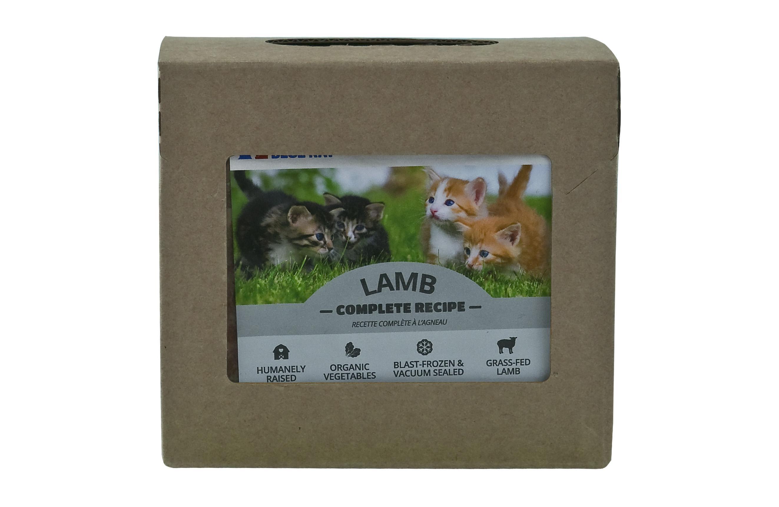 Red Dog Blue Kat Lamb Complete Recipe Frozen Cat Food, 1/4-lb