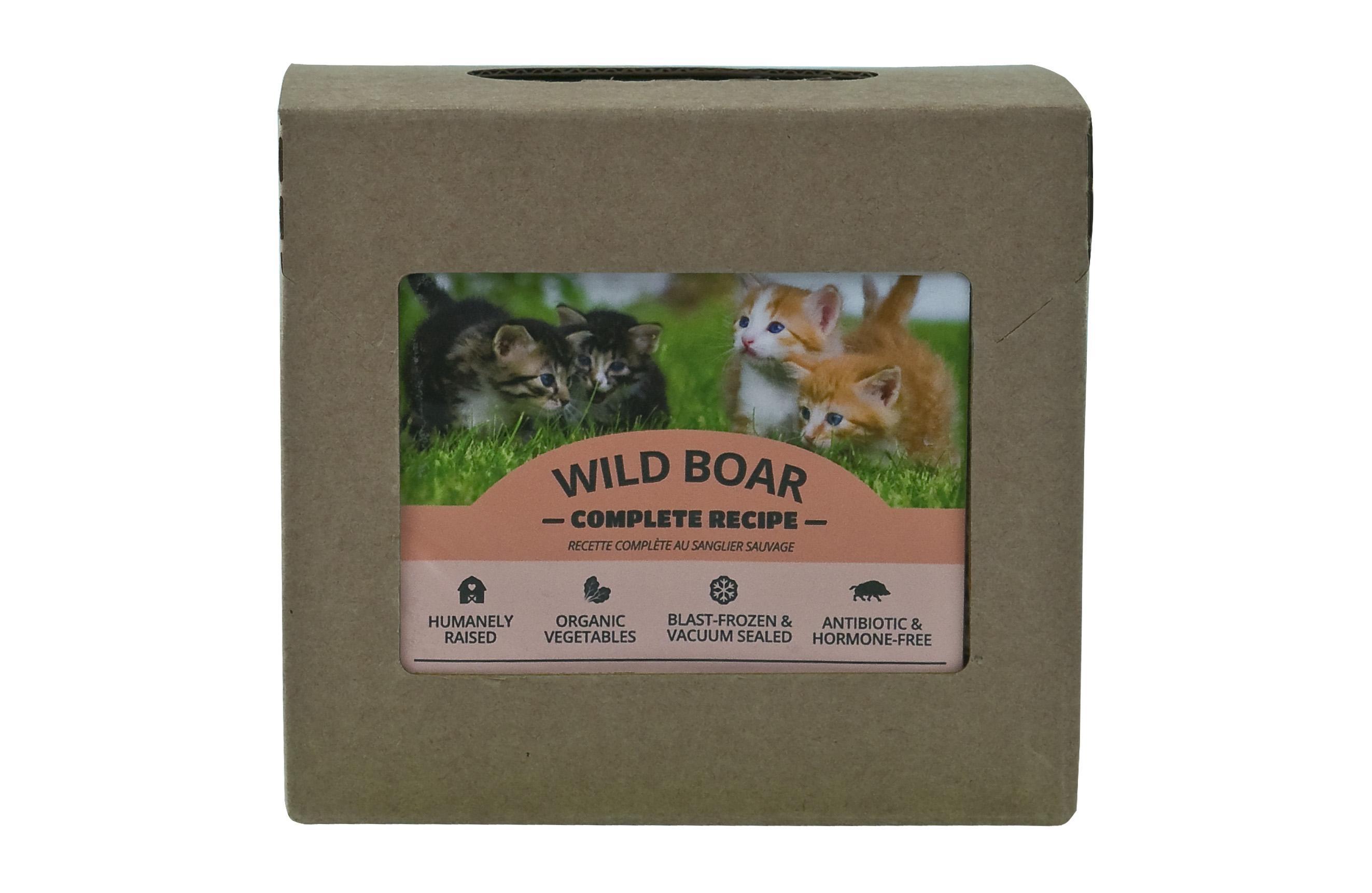 Red Dog Blue Kat Wild Boar Complete Recipe Frozen Cat Food, 1/4-lb