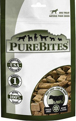 PureBites Beef Liver Freeze-Dried Dog Treats, 2-oz bag
