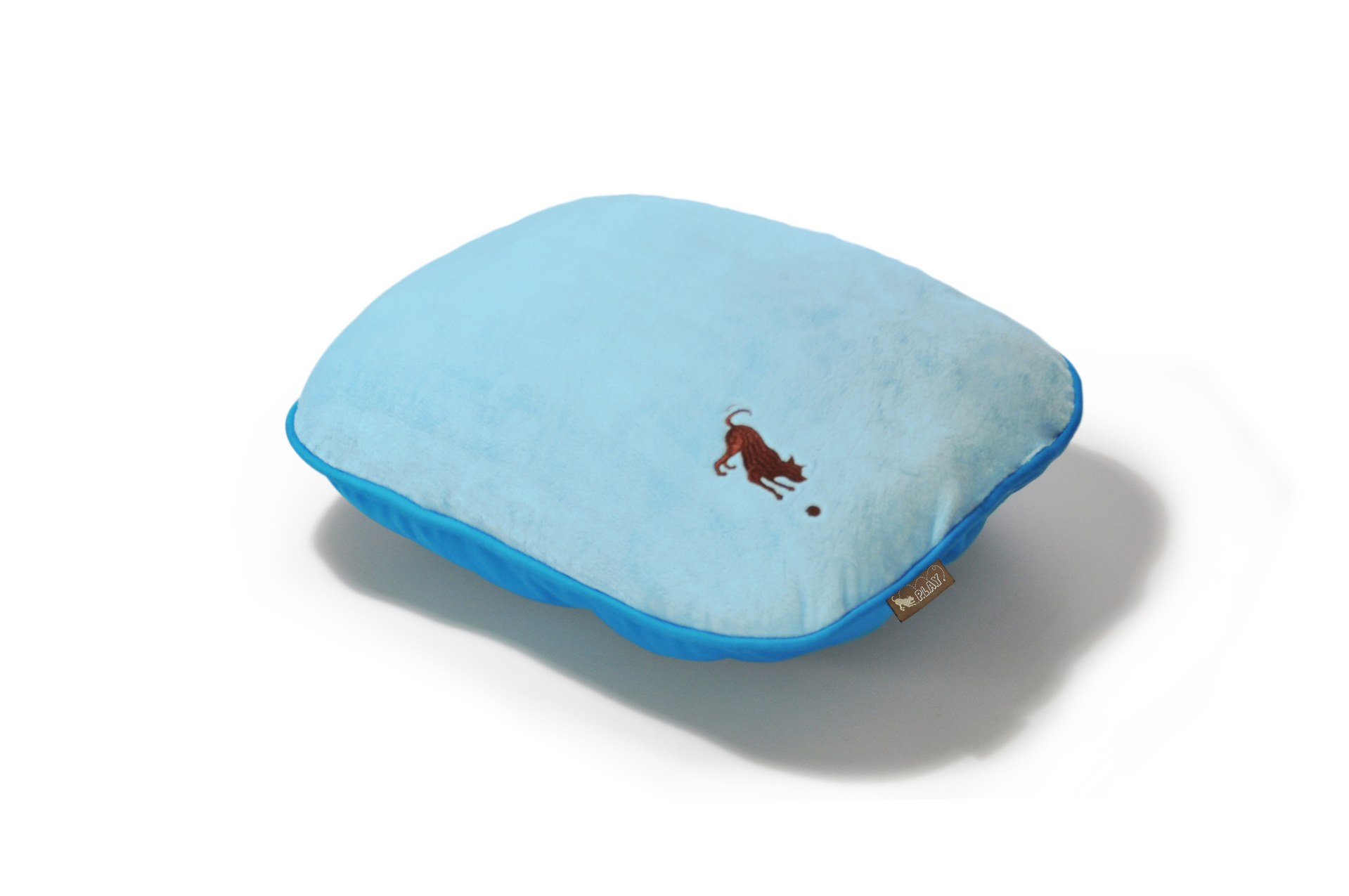 P.L.A.Y. Cotton Candy Pillow Dog Bed, Baby Blue