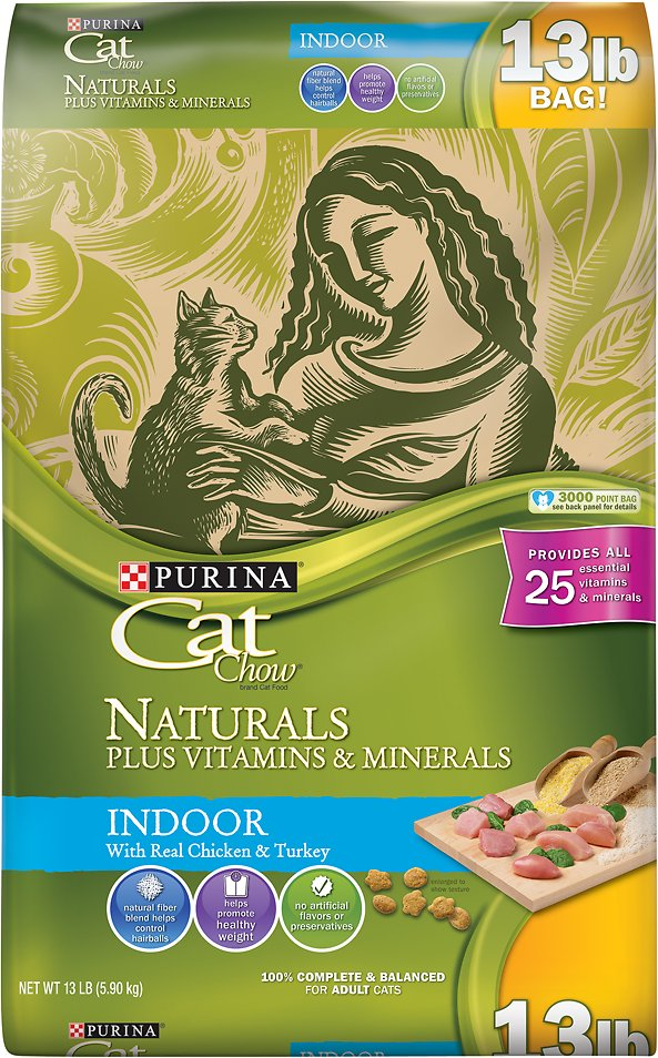Cat Chow Naturals Indoor with Real Chicken & Turkey Dry Cat Food Image