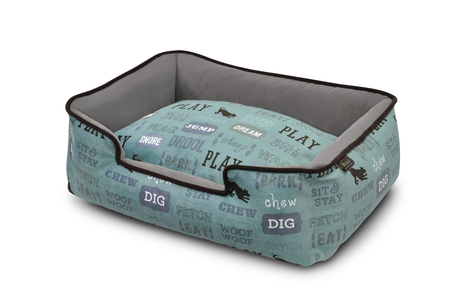 P.L.A.Y. Dog's Life Lounge Dog Bed, Light Blue, Small