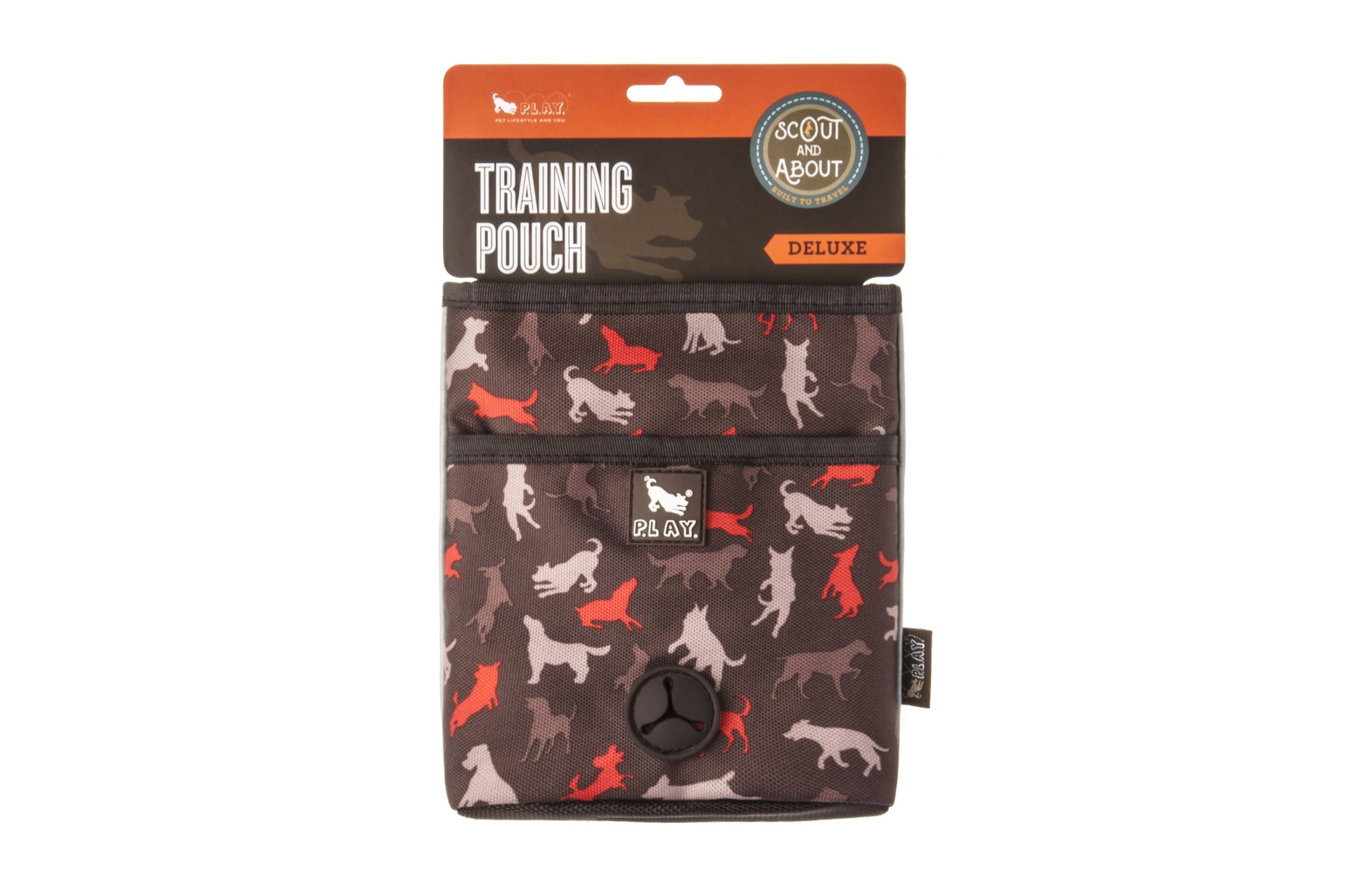 P.L.A.Y. Deluxe Scout & About Dog Training Pouch, Mocha Image