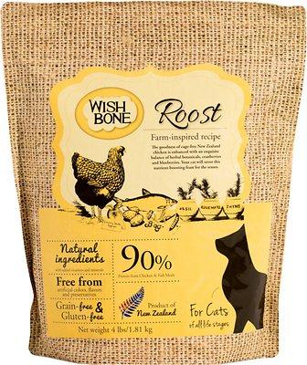 Wishbone Roost Grain-Free Dry Cat Food, 4-lb bag