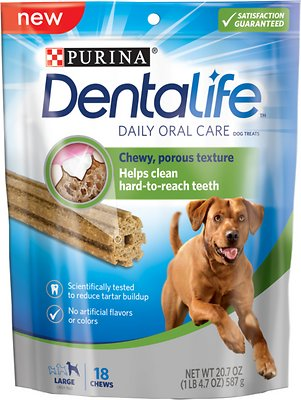 DentaLife Daily Oral Care Large Dental Dog Treats, 18-count
