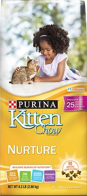 Kitten Chow Nurture Dry Cat Food, 6.3-lb bag