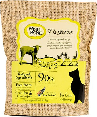 Wishbone Pasture Grain-Free Dry Cat Food, 4-lb bag