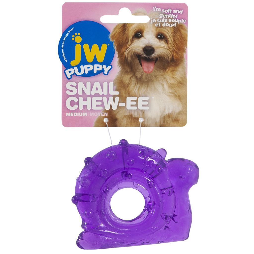 JW Pet Puppy Snail Chew-ee Teether Dog Toy, Medium
