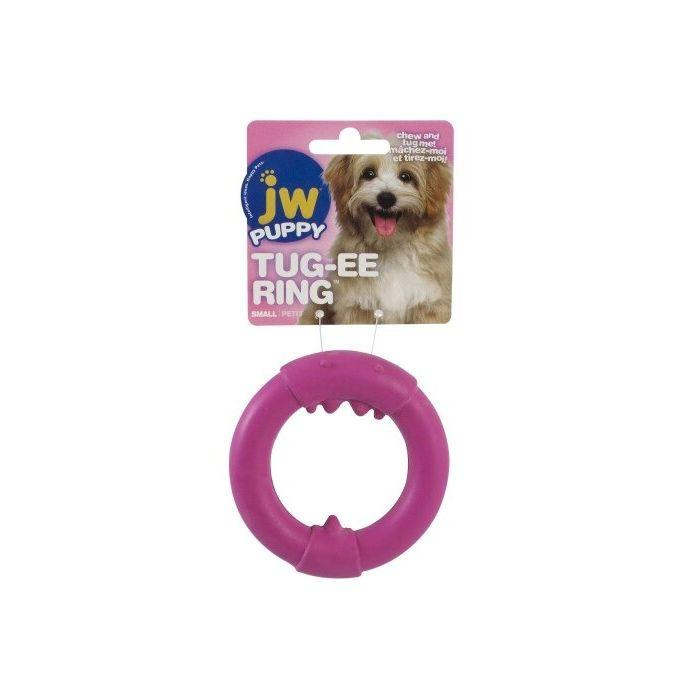 JW Pet Puppy Tug-ee Big Mouth Single Ring Dog Toy, Small