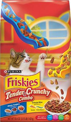 Friskies Tender & Crunchy Combo Dry Cat Food, 3.15-lb bag