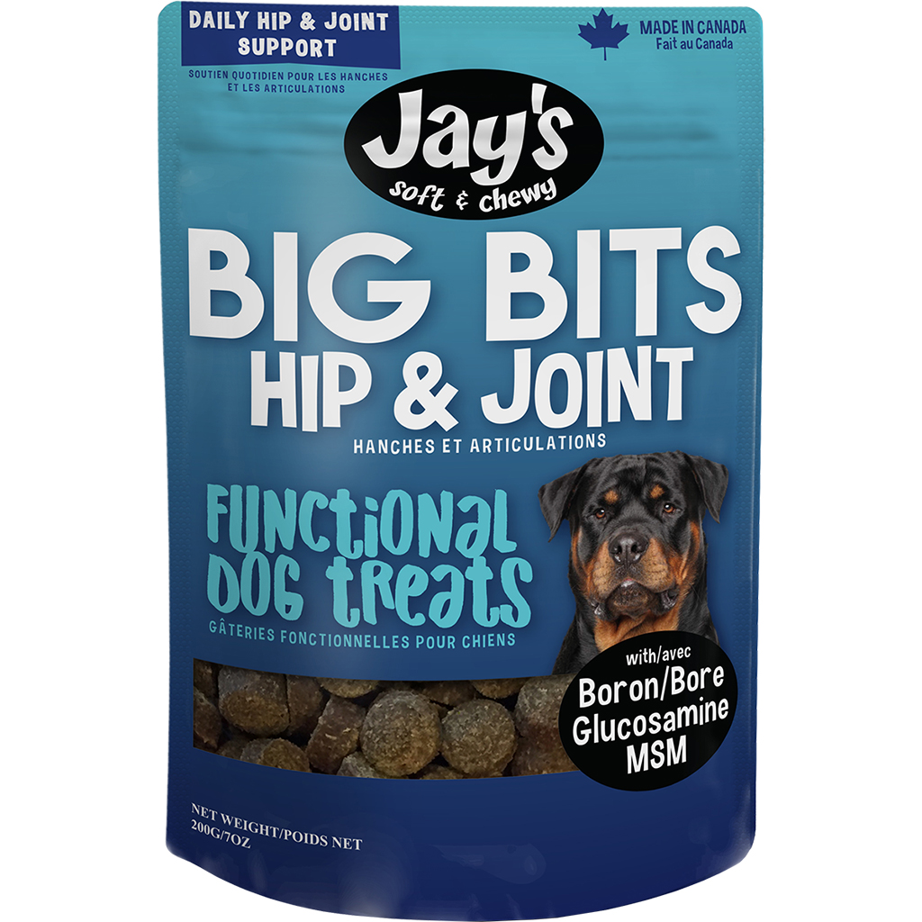 Jay's Big Bits Hip & Joint Dog Treats, 200-G