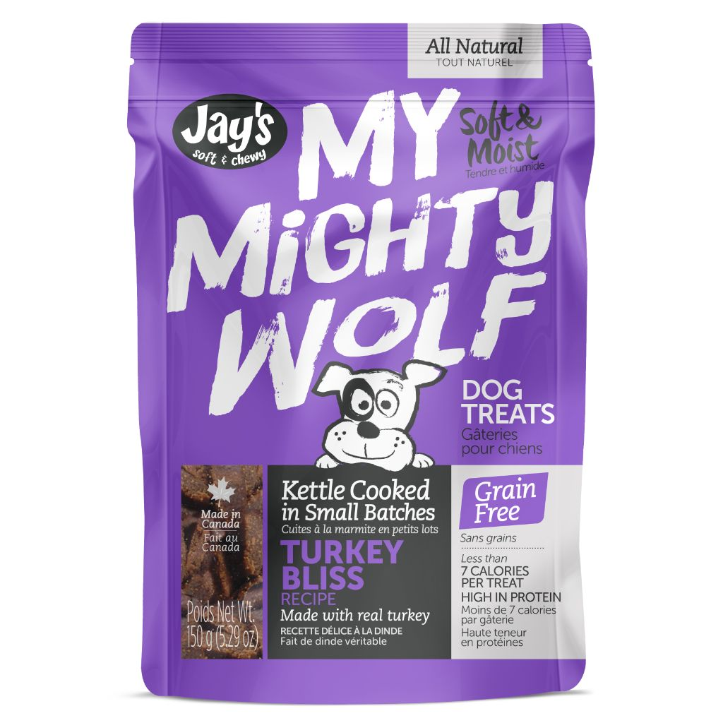 Jay's My Mighty Wolf Turkey Dog Treats, 150-G