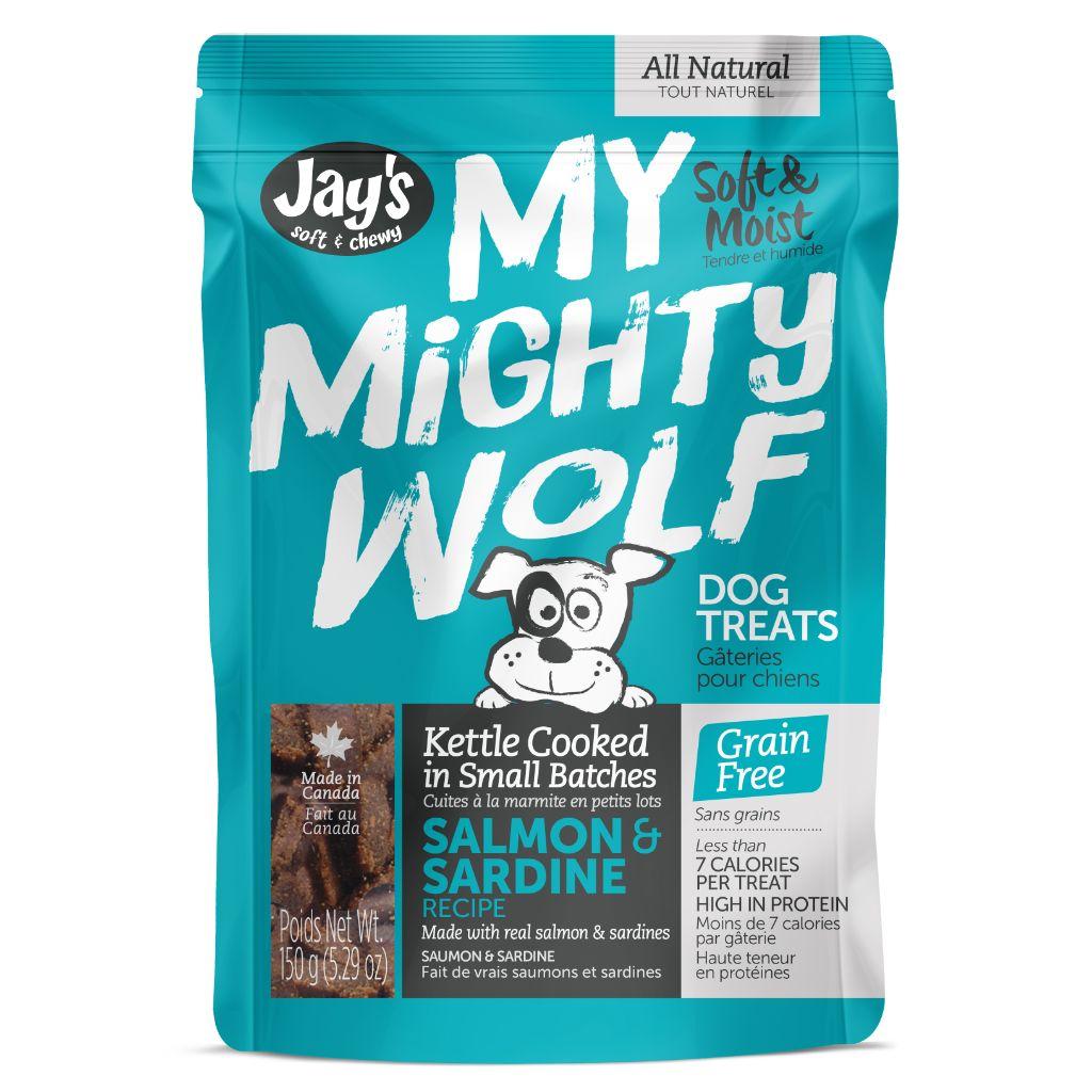 Jay's My Mighty Wolf Salmon Dog Treats, 150-G