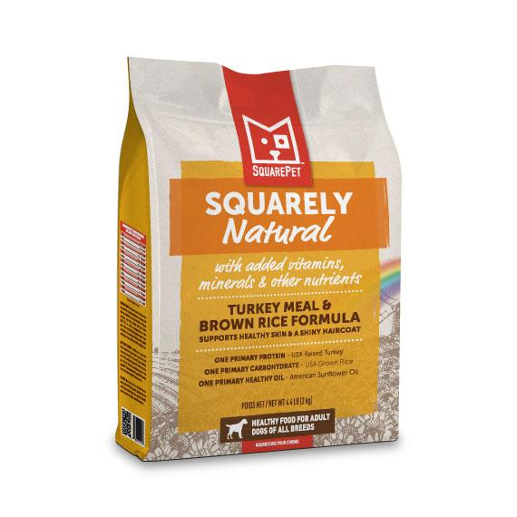 SquarePet Squarely Natural Turkey Meal & Brown Rice Dry Dog Food, 4.4-lb