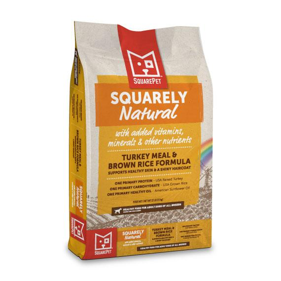 SquarePet Squarely Natural Turkey Meal & Brown Rice Dry Dog Food, 22-lb