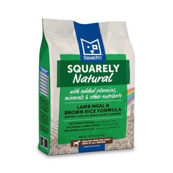 SquarePet Squarely Natural Lamb Meal & Brown Rice Dry Dog Food, 4.4-lb