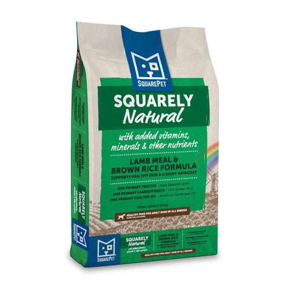 SquarePet Squarely Natural Lamb Meal & Brown Rice Dry Dog Food, 22-lb