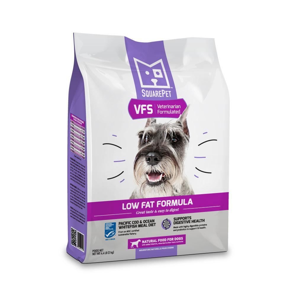 SquarePet VFS Low Fat Formula Dry Dog Food, 4.4-lb