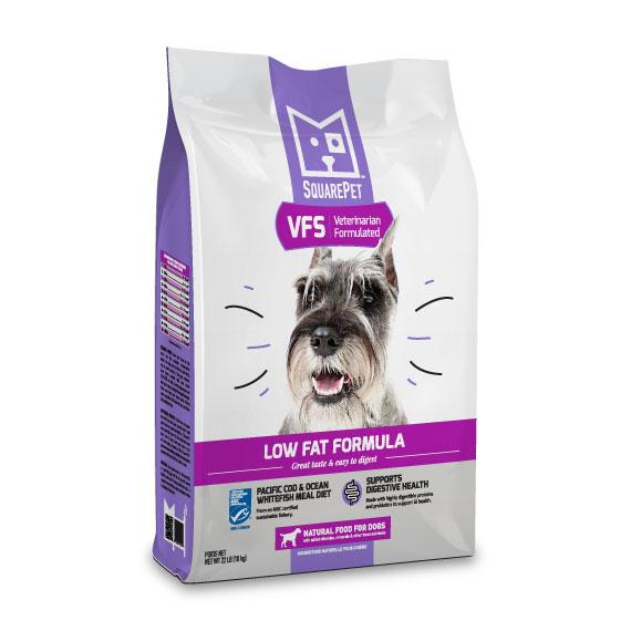 SquarePet VFS Low Fat Formula Dry Dog Food, 22-lb