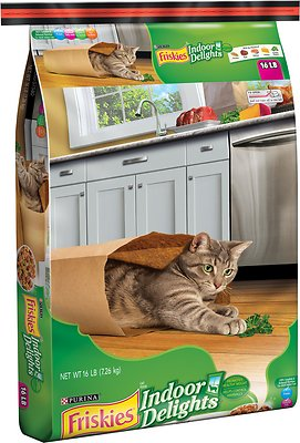 Friskies Indoor Delights Dry Cat Food, 16-lb bag